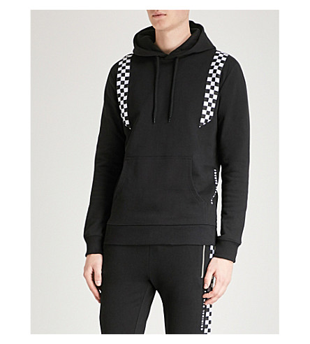 CRIMINAL DAMAGE SOUTHBANK CHEQUERBOARD COTTON-JERSEY HOODY