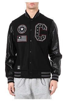CRIMINAL DAMAGE Star Letterman badge varsity jacket