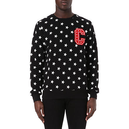 CRIMINAL DAMAGE All over stars sweatshirt (Black