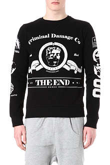 CRIMINAL DAMAGE The End cotton-blend sweatshirt