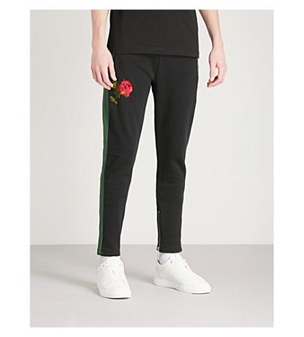 CRIMINAL DAMAGE Thorn cotton-jersey jogging bottoms (Black