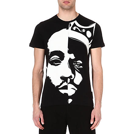 CRIMINAL DAMAGE Tupac biggie t-shirt (Black