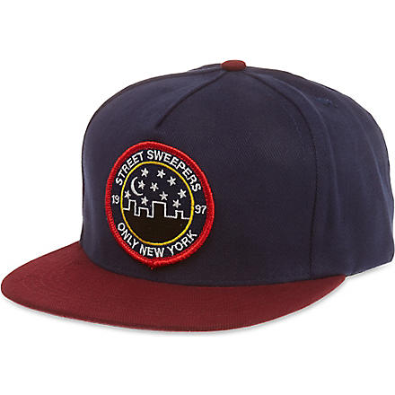 ONLY NY Street sweepers cap (Navy/burgundy