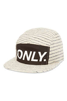 ONLY NY Logo striped baseball cap