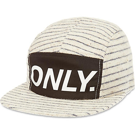 ONLY NY Logo striped baseball cap (Natural