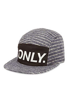 ONLY NY Logo striped cap