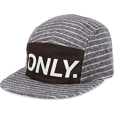 ONLY NY Logo striped cap (Navy
