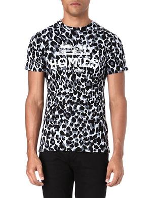 REASON Homies leopard t-shirt