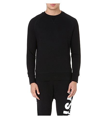 ELEVEN PARIS Fitted cotton-blend jumper (Black