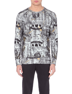 ELEVEN PARIS West 77 church-print sweatshirt