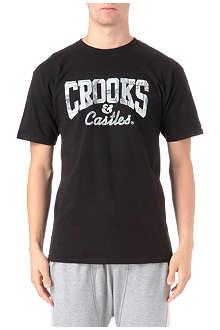 CROOKS AND CASTLES Currency core logo t-shirt