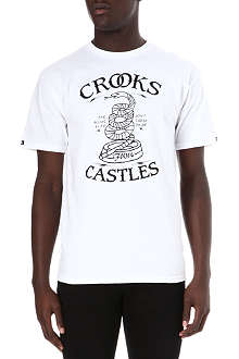 CROOKS AND CASTLES Snake cotton t-shirt