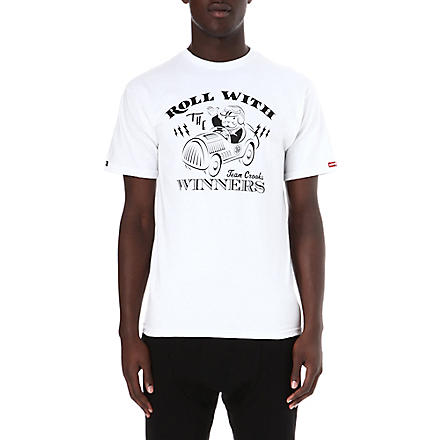 CROOKS AND CASTLES Monopoly roll with winners t-shirt (White