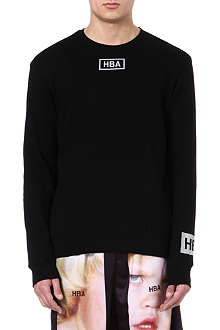 HOOD BY AIR Reflective logo sweatshirt