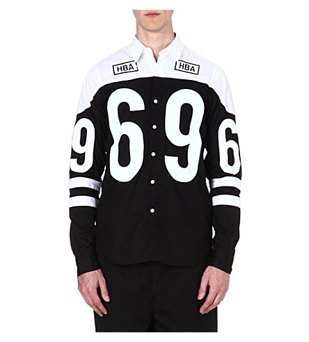 HOOD BY AIR 69 cotton shirt (Black/white