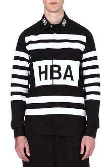 HOOD BY AIR Hockey stripe shirt
