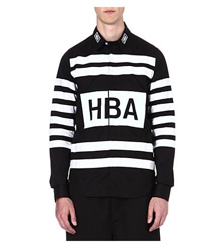 HOOD BY AIR Hockey stripe shirt (Black