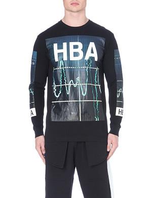 HOOD BY AIR Colour monitor long sleeved t-shirt