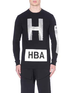 HOOD BY AIR Thumbprint long sleeved t-shirt