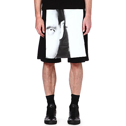 HOOD BY AIR Morph layered shorts (Black