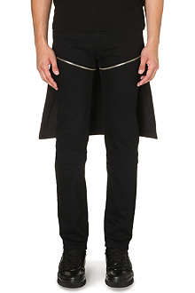 HOOD BY AIR Zip-detail slim-fit tapered jeans