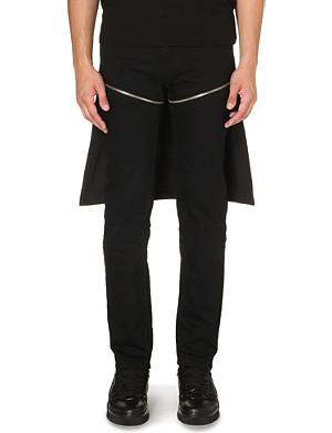 HOOD BY AIR Zip-detail slim-fit tapered jeans