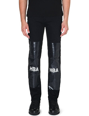 HOOD BY AIR Block-panel slim-fit tapered jeans