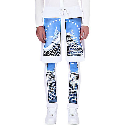 HOOD BY AIR Paramount double-layered trousers (White