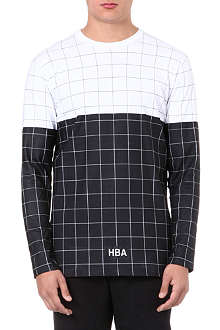 HOOD BY AIR Grid-print cotton t-shirt