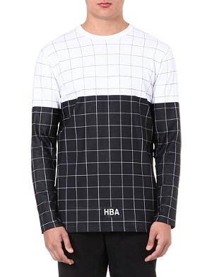 HOOD BY AIR Grid-print cotton t-shirt