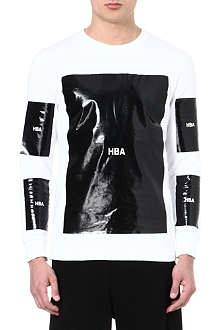 HOOD BY AIR Logo-detailed block top