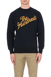 THE HUNDREDS Slant logo sweatshirt