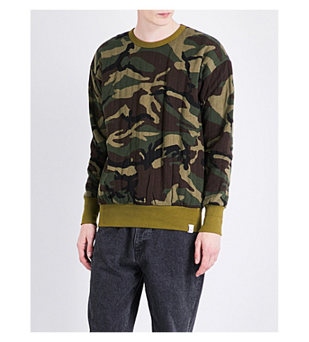 MAGIC STICK Camouflage-print quilted cotton-jersey sweatshirt (Woodland