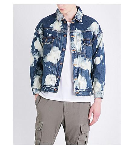 MAGIC STICK Bleached denim jacket (Indogo+hyper+bleach