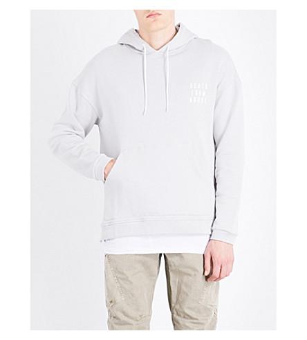 MAGIC STICK Logo-print cotton-jersey hoody (Silver+grey