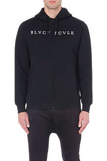 BLACK SCALE Starphomet zip jersey hoody