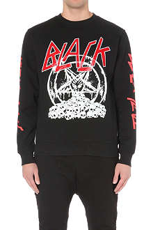 BLACK SCALE Diabolic Pentagon jersey sweatshirt