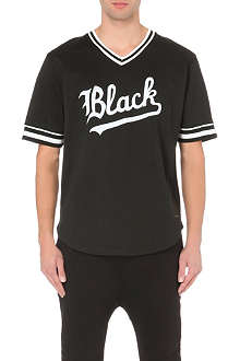 BLACK SCALE Appliqué logo football t-shirt