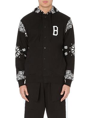 BLACK SCALE Paisley sleeve jersey jacket