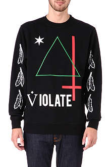 BLACK SCALE Violate triangled sweatshirt
