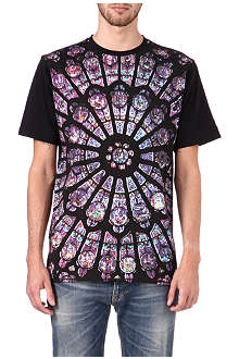 BLACK SCALE Stained t-shirt