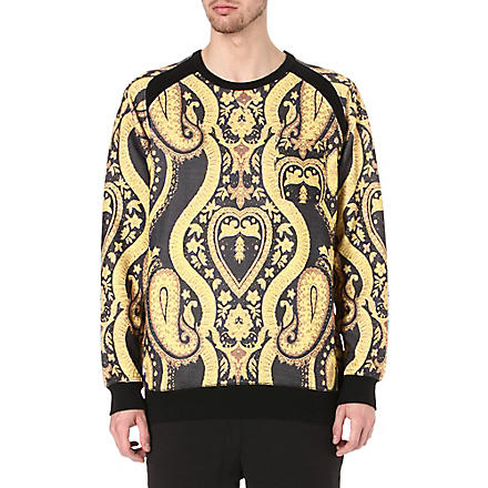 BLACK SCALE Paisley print sweatshirt (Black