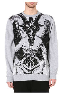 BLACK SCALE Satan sinners sweatshirt