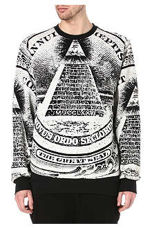 BLACK SCALE Pyramid dollar sweatshirt