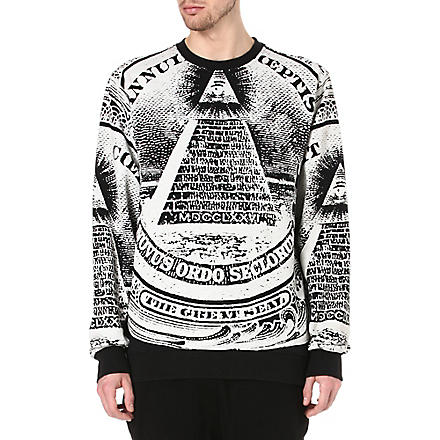 BLACK SCALE Pyramid dollar sweatshirt (Black