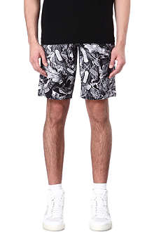 BLACK SCALE Leaf-print shorts