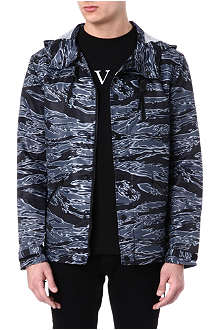 BLACK SCALE Camo-print hooded jacket