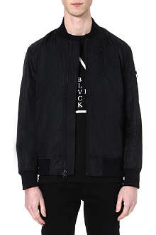 BLACK SCALE Zip-up bomber jacket