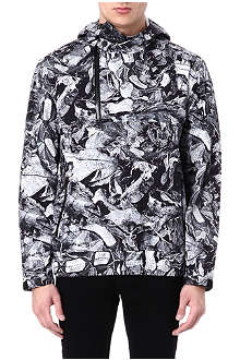 BLACK SCALE Leaf-print anorak