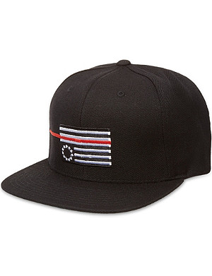 BLACK SCALE Red rebel flag snapback cap